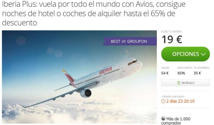 Groupon Iberia Plus Avios