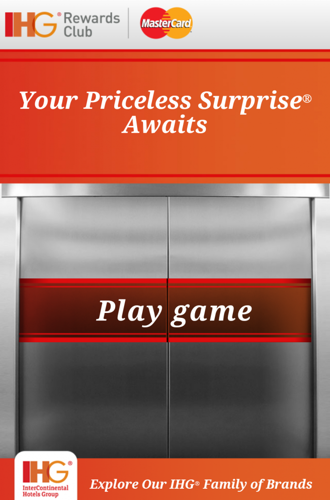IHG Rewards Club Pricless Promo 1