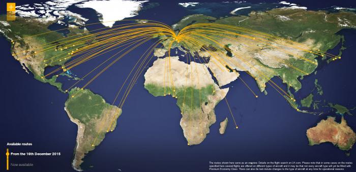 Lufthansa Miles&More Triple Miles Premium Economy Routes