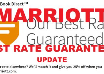 Marriott Best Rate Guarantee Update