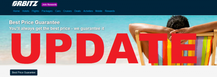 Orbitz Best Price Guarantee Update