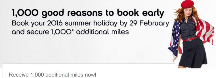 Airberlin Topbonus 1,000 Bonus Miles Book By February 29 Fly May 15 - October 15