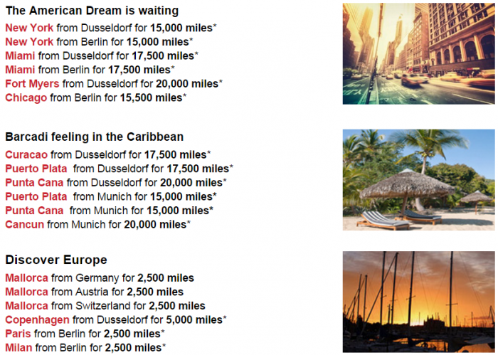 Airberlin Topbonus Routes