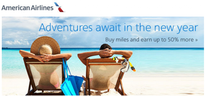 American Airlines Buy AAdvantage Miles January 2016 Promo