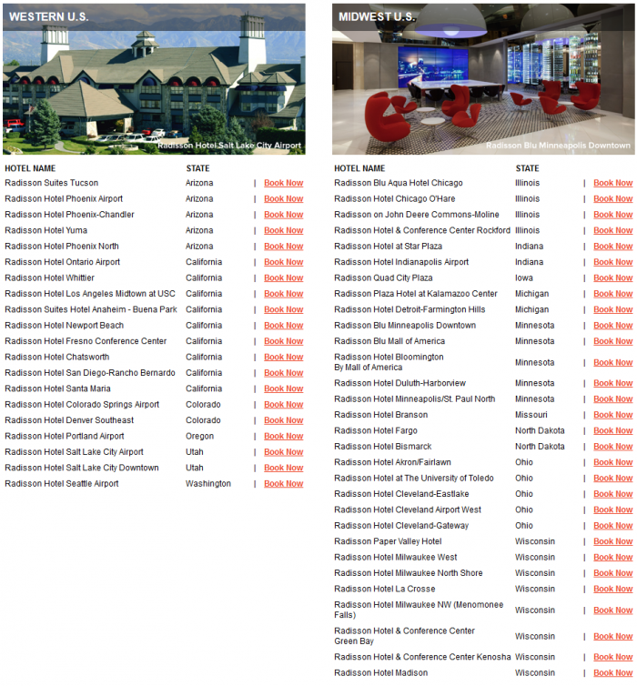 Club Carlson Mega Points December 31 2016 Properties 1