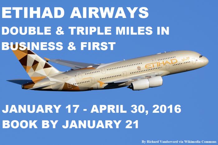 Etihad Airways Double & Triple Miles