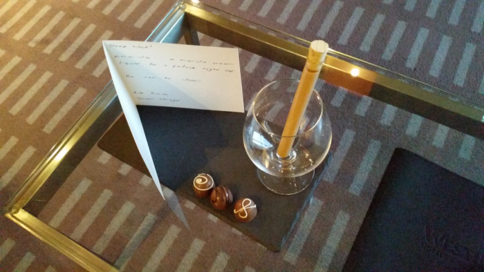 Fabulous Fridays Great Platinum Welcome Amenity Westin Cape Town Turndown