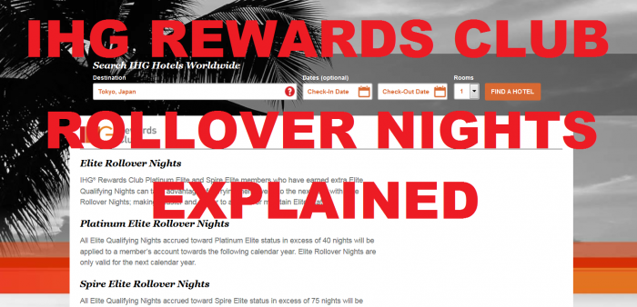 IHG Rewards Club Rollover Nights Explained