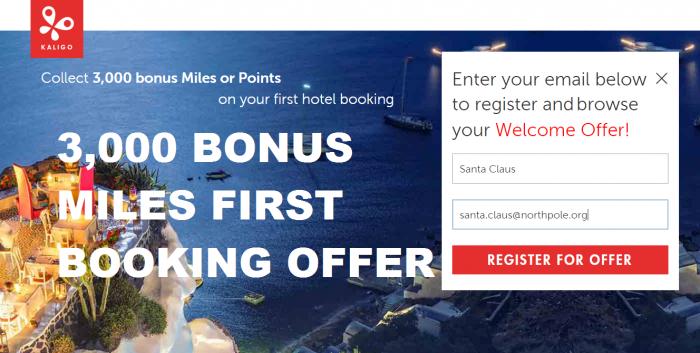Kaligo 3,000 Bonus Miles First Hotel Booking All Partners January 31 2016