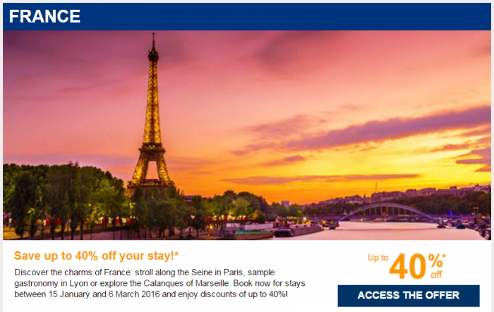 Le Club AccorHotels January 2016 Private Sales France