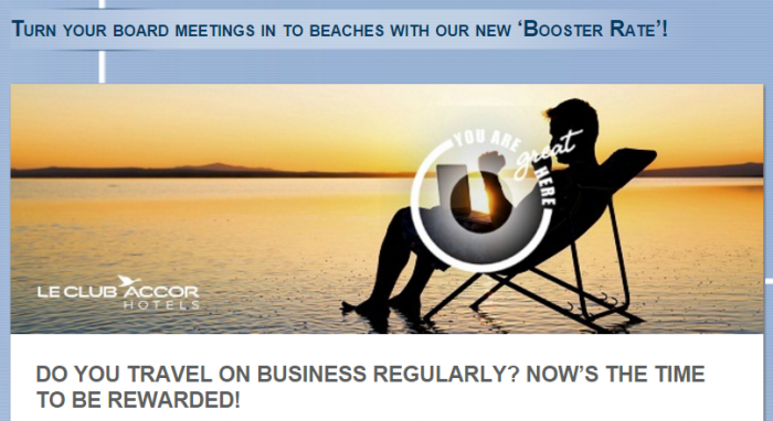Le Club AccorHotels UK Booster Rate 500 Points Per Nights January 1 - December 31 2016