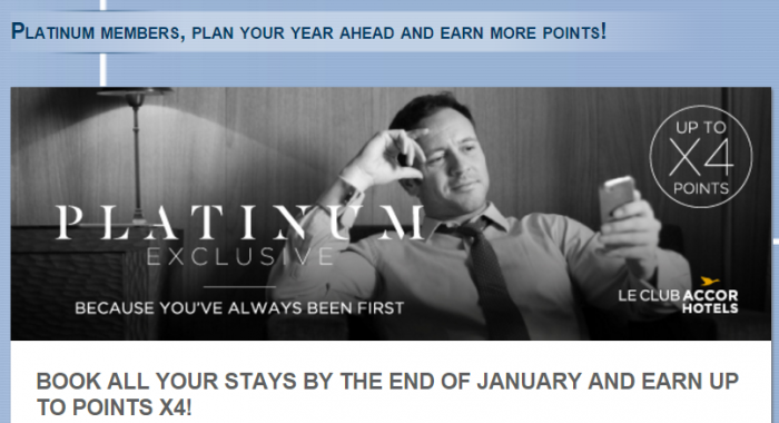 Le Club AccorHotels Up To Quadruple Points January 1 - December 31 2016