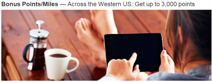 Marriott Rewards Western US 1,000 Bonus Points Per Night Thu - Sun January 1 - March 25 2016