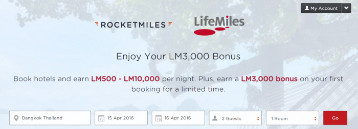 Rocketmiles Avianca LifeMiles 3000 Bonus Miles First Booking By March 31 2016