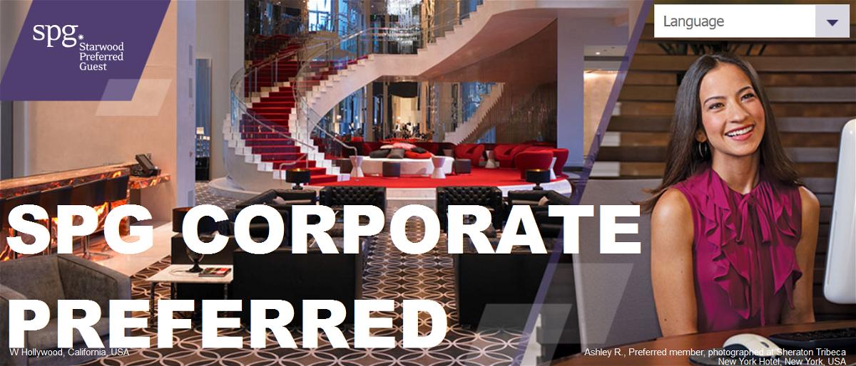 Starwood Preferred Guest SPG Corporate Preferred