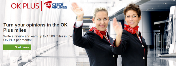 TripAdvisor 150 Czech Airlines OK Plus Miles Per Review Max 10 Per Month