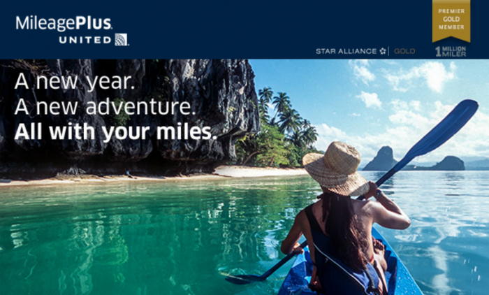 United Airlines MileagePlus Buy Miles January 2016 Targeted Offer