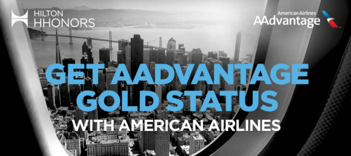 Hilton HHonors American Airlines Gold Status