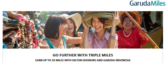 Hilton HHonors Garuda Indonesia Up To Triple GarudaMiles February 1 - April 30, 2016