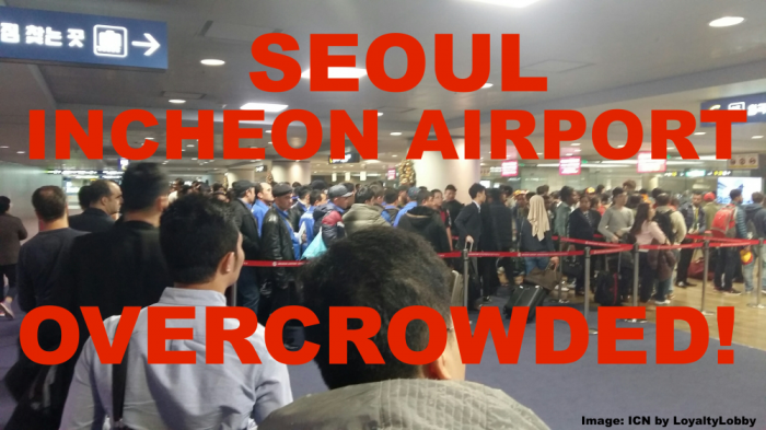 ICN Airport Crowded