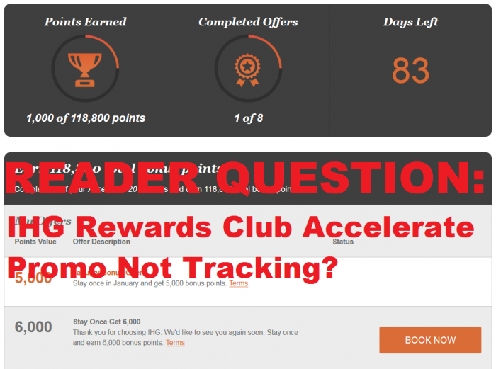 IHG Rewards Club Accelerate Not Tracking