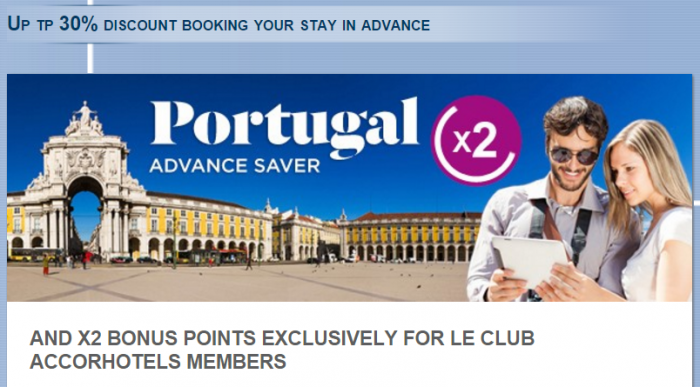 Le Club AccorHotels Portugal Double Points