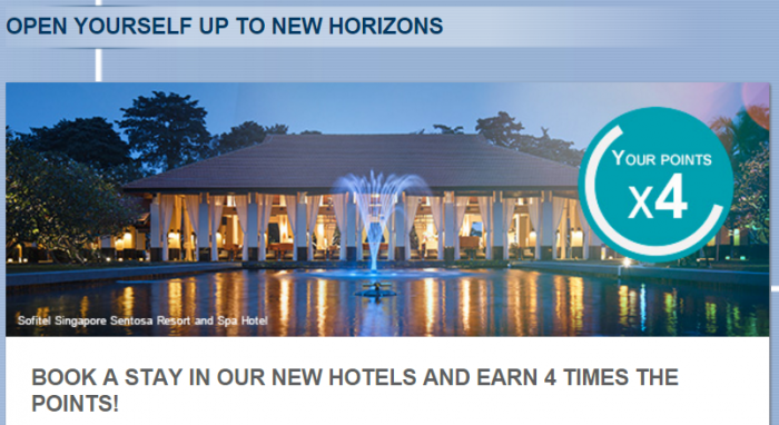 Le Club AccorHotels Quadruple Points New Hotels February 1 - March 31 2016