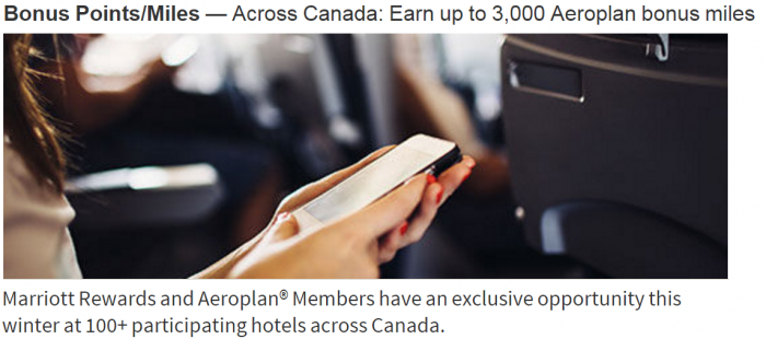 Marriott Rewards Air Canada Aeroplan Up To 3,000 Bonus Miles Per Stay February 1 - April 18 2016