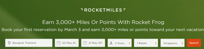 Rocketmiles 3000 Bonus Miles First Booking Offer All Partners