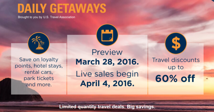 U.S. Travel Association Daily Getaways 2016