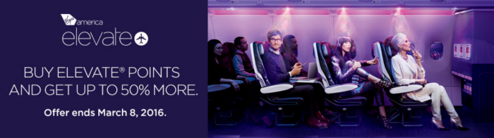 Virgin America Buy Elevate Points At Up To 50 Percent Bonus Until March 8 2016
