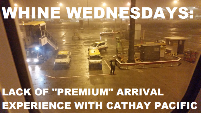 Whine Wednesday Cathay Pacific Ground Services (NONE) At HKG