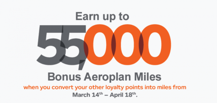 Air Canada Aeroplan Conversion Offer SPring 2016