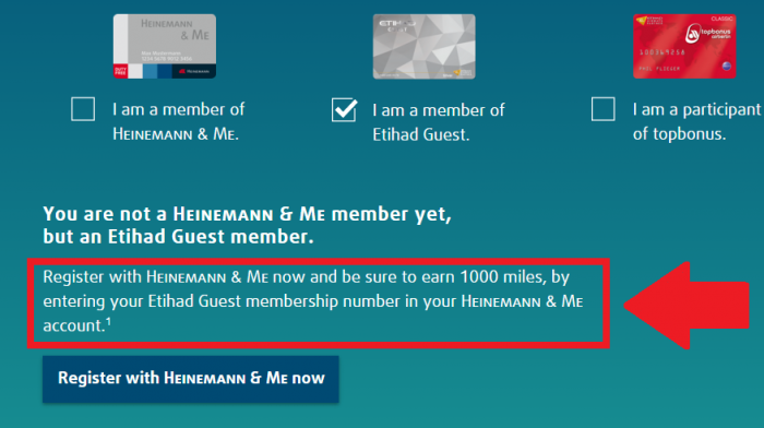 Heinemann Etihad Guest Airberlin Topbonus 1K EY