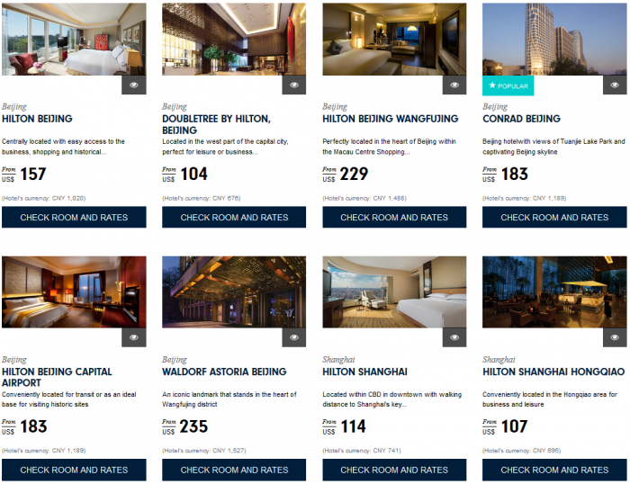 Hilton HHonors Asia Pacific Sale China