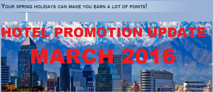 Hotel Promotions Update March 2016