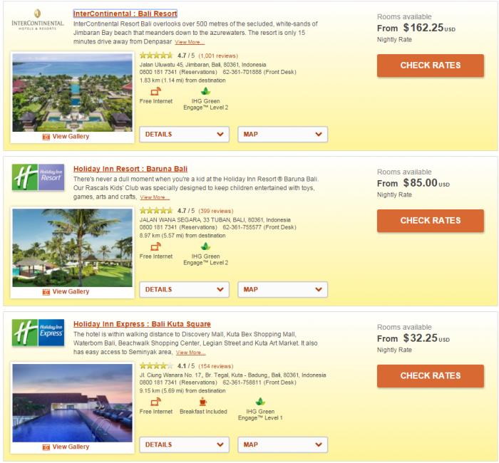 IHG Rewards Club Airline Staff Rate Bali 1