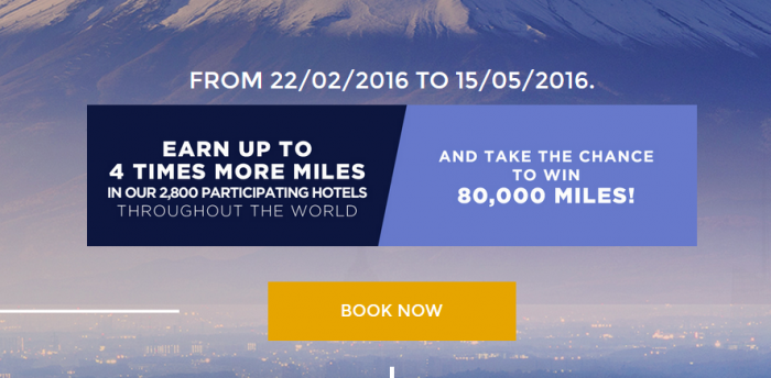 Le Club AccorHotels AIr France-KLM Flying Blue Up To Quadruple Miles February 22 - May 15 2016