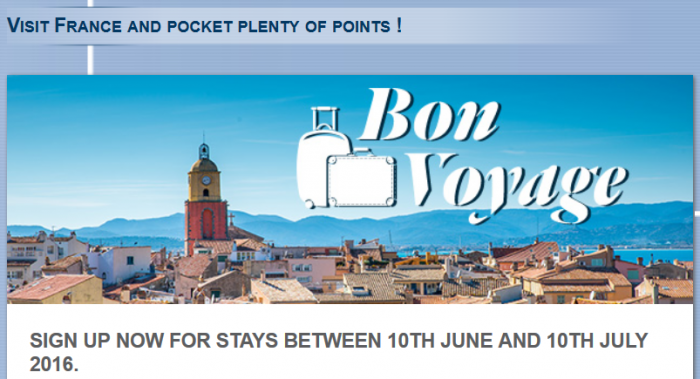Le Club AccorHotels France Bonus Points June 10 - July 10 2016