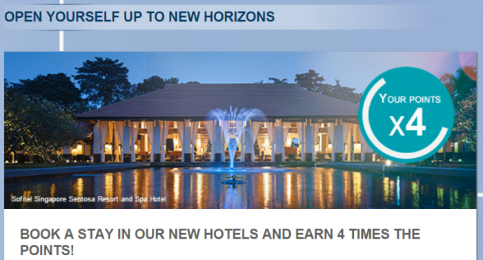 Le Club AccorHotels Quadruple Points New Hotels March 1 - April 30 2016