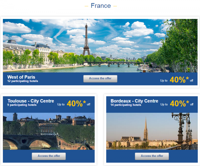 Le Club AccorHotels Weekly Private Sales March 29 - April 4 2016 France 1