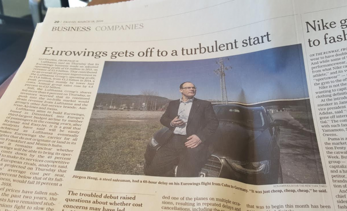 New York Times Eurowings