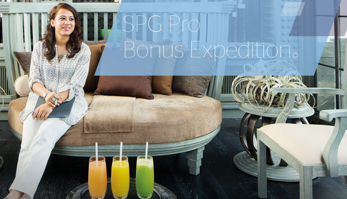 Starwood Preferred Guest SPG PRO Bonus Expedition March 14 - June 30 2016