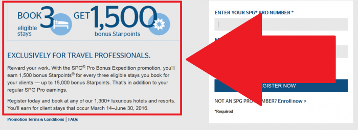 Starwood Preferred Guest SPG PRO Bonus Expedition March 14 - June 30 2016 Details