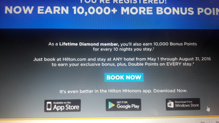 Hilton HHonors Targeted Offer