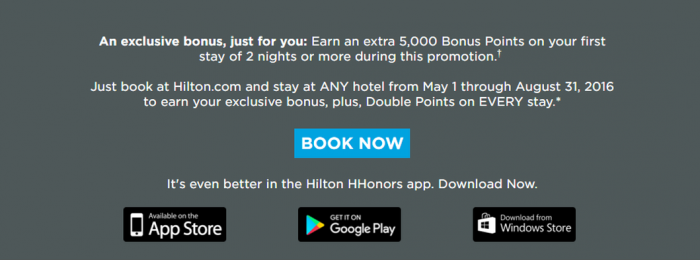 Hilton HHonors Targeted Offer Second