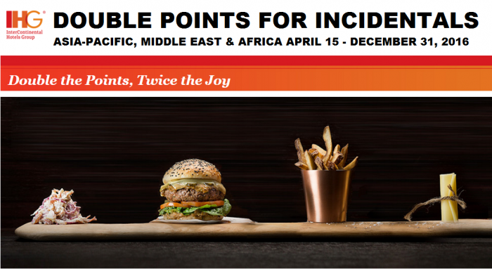 IHG Rewards Club Incidentals Double Points April 15 - December 31 2016 AMEA