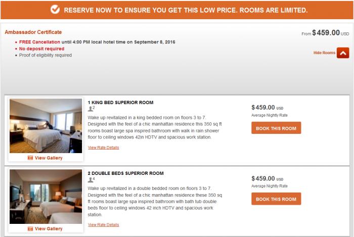 IHG Rewards Club InterContinental Ambassador Free Weekend Night Booking Link Rate Preference IC NYC 1