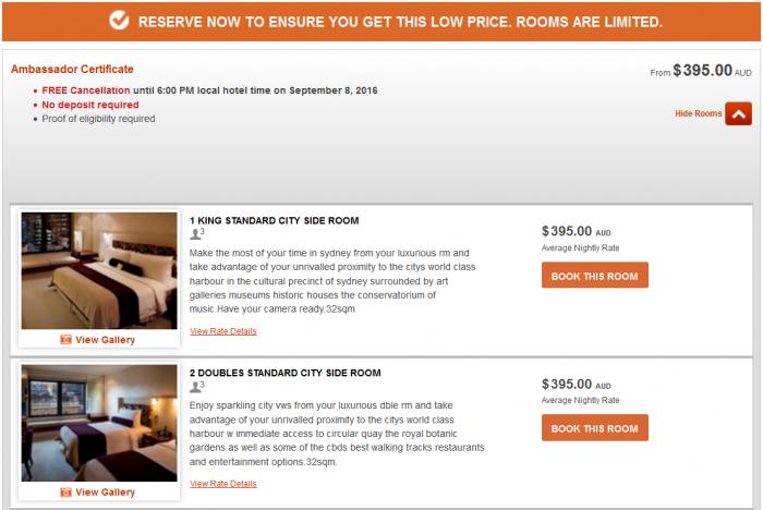 IHG Rewards Club InterContinental Ambassador Free Weekend Night Booking Link Rate Preference IC Sydney 1