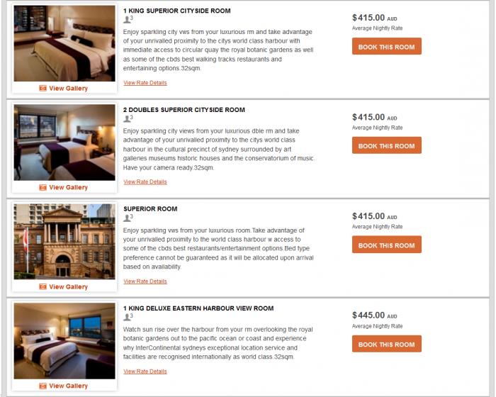 IHG Rewards Club InterContinental Ambassador Free Weekend Night Booking Link Rate Preference IC Sydney 2